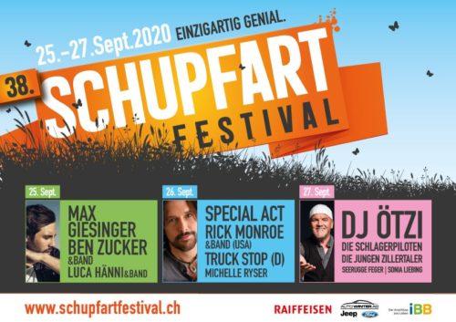 Das Schupfart Festival findet vom 25. - 27. September 2020 statt.