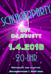 schlager party stadttor jona 1. April 2016