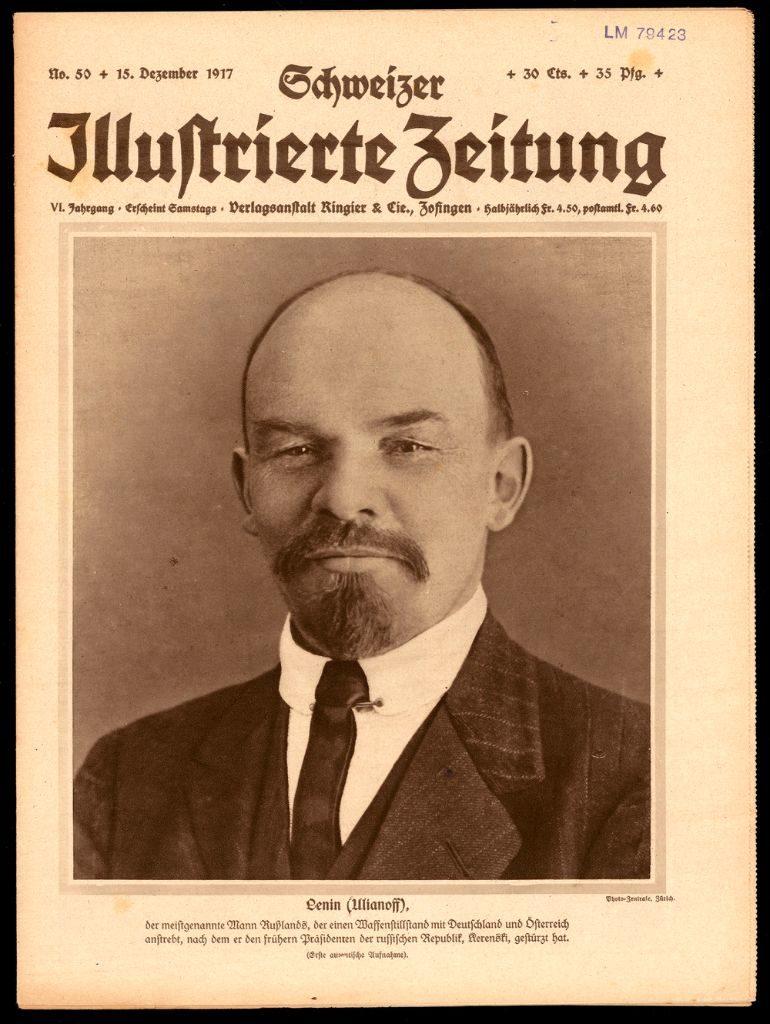 Schweizer Illustrierte Zeitung, Nr. 50, 15.12.1917 - Die Schweizer Behörden schenkten den russischen Emigranten wenig Beachtung. Erst nach der Oktoberrevolution wird die Bedeutung Lenins wahrgenommen. (Bild: Schweizerisches Nationalmuseum)