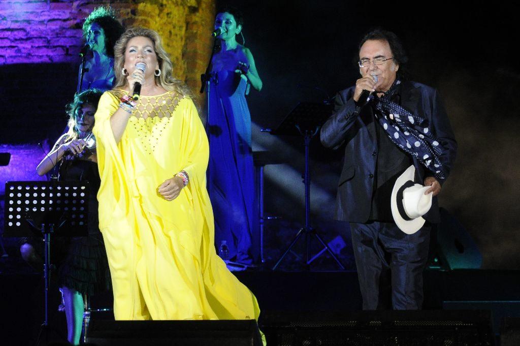 Romina Power und Albano Carrisi im Taormina Greek Theatre, Italien (Bild: Maurizio D'Avanzo/REX/Shutterstock)