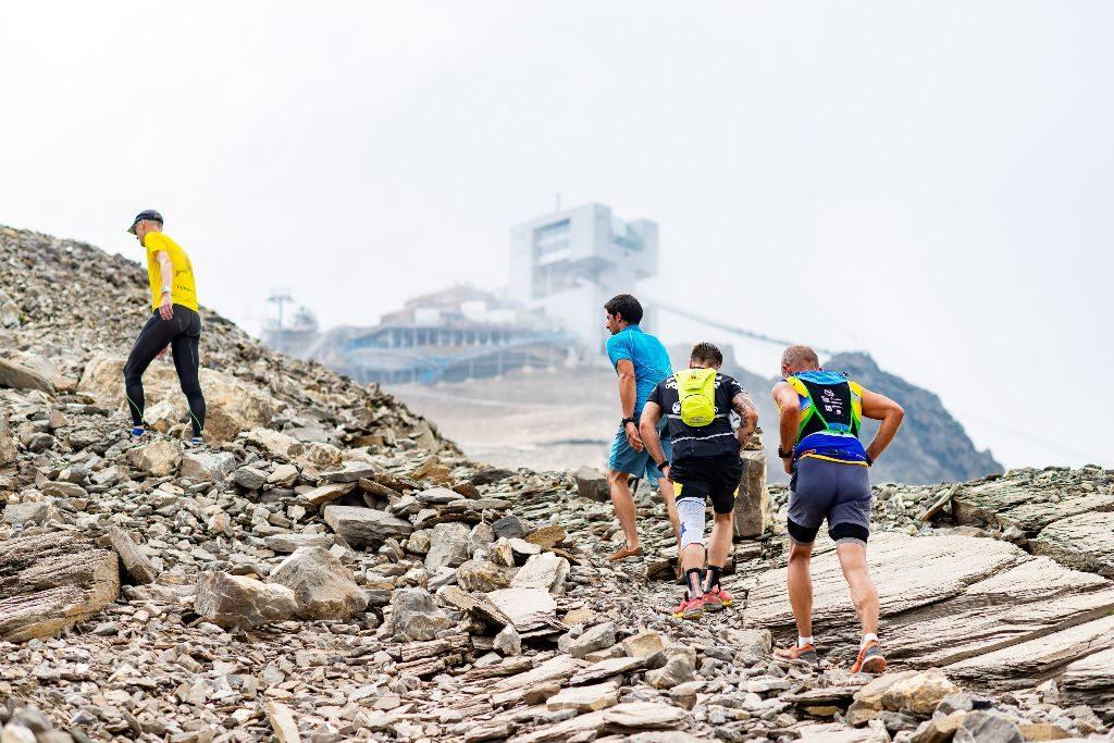 Heisser Lauf auf Glacier 3000 – bei Sonnenschein und hohen Temperaturen