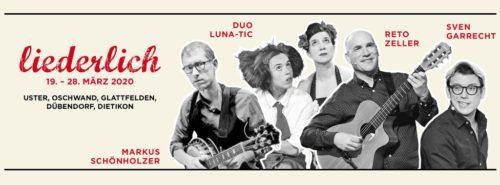 Liederlich das Liedermacherfestival findet vom 19. - 28. März 2020 statt.