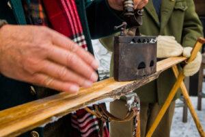 Holz Ski mieten für dekoration