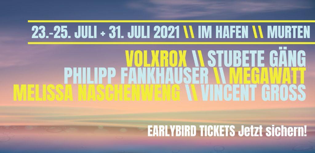 Das Waterstage Festival Murten findet im Hafen vom 23. - 31. Juli 2021 statt.