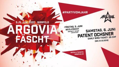 Das Radio Argovia Fäscht Birrfeld findet vom 5. - 6. Juni 2020 statt. Am Freitag mit dem traditionellen Beizlifäscht. Am Samstag Konzerte