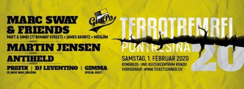 Das 20. Terratrembel Festival Pontresina findet am 1. Februar 2020 statt.