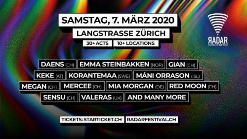 Das nächste RADAR Festival For New Music findet am 7. März 2020 statt.