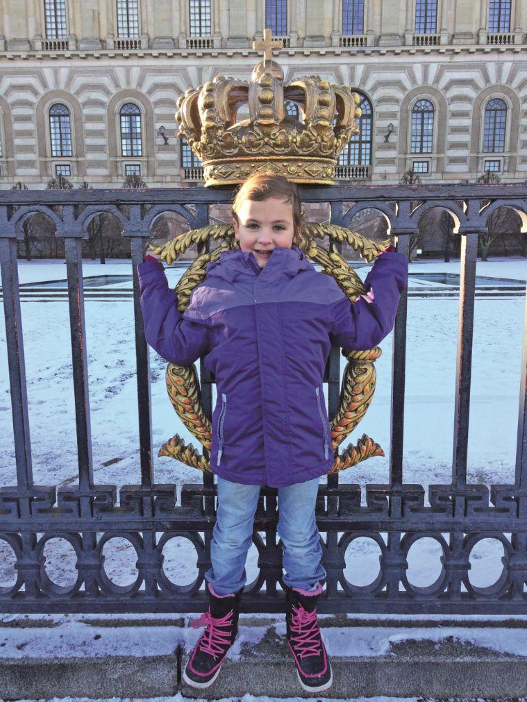 Alena besuchte das Stockholmer Schloss.