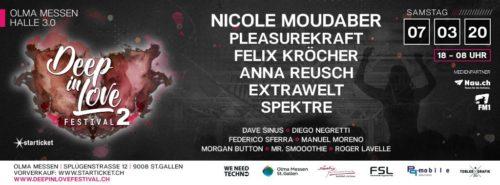 Das 2. Deep in Love Festivalin der Olma-Halle in St.Gallen findet am 7. März 2020 statt.
