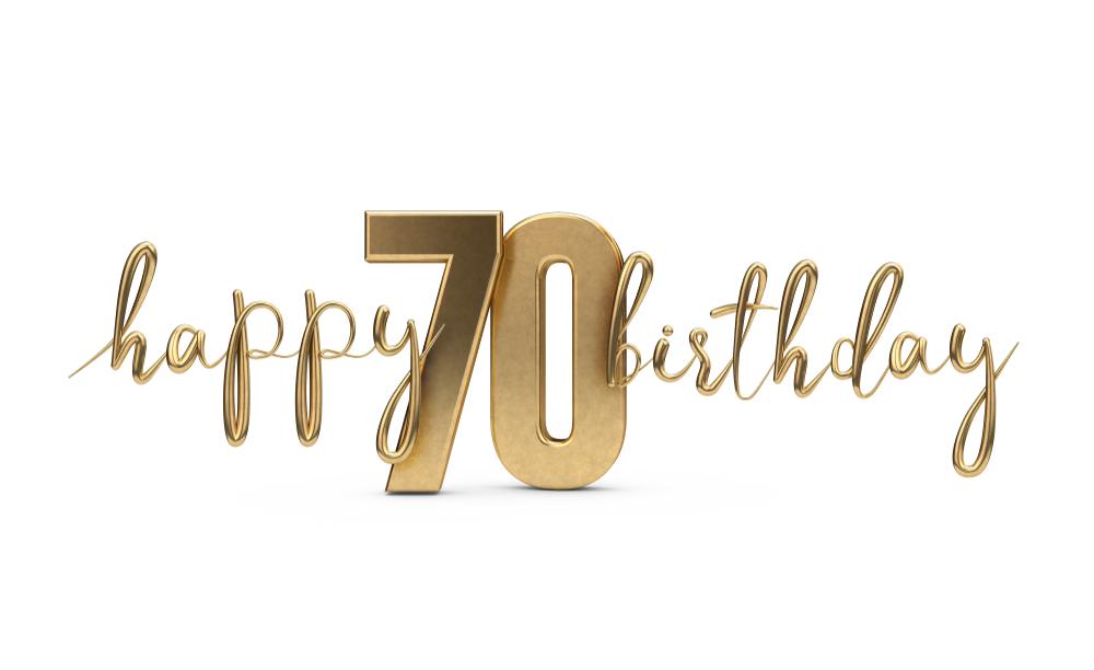 Den 70. Geburtstag zu einem unvergesslichen Fest machen (Bild: Ink Drop - shutterstock.com)