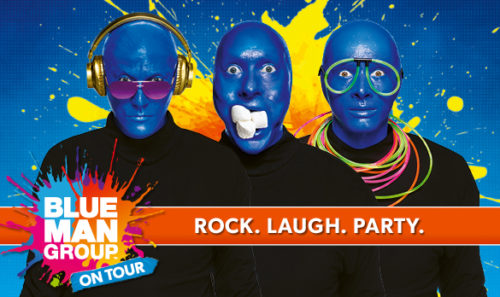 BLUE MAN GROUP gastiert vom 21. - 26 Januar 2020 im Musical Theater Basel.