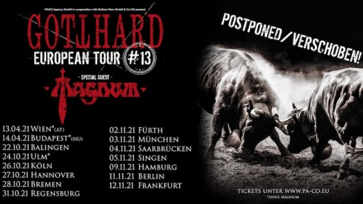 Gotthard Europan Tour 2021